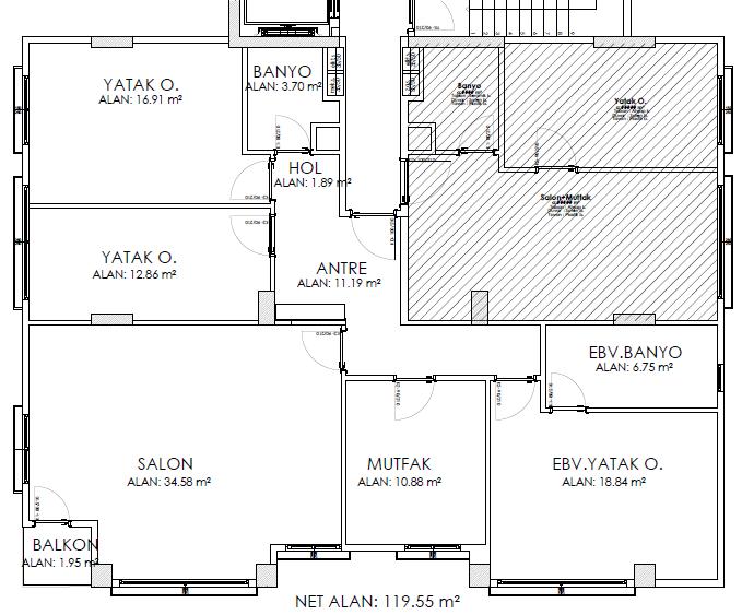 Suadiye Bağdat Caddesi… 3+1 Balkonlu Projeden Satılık Daire